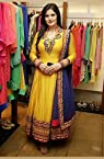 Zarine Khan Yellow Bollywood Replica Anarkali Suit