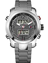 Tommy Hilfiger Analog-Digital Black Silicone Mens Watch 1790957
