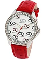 Gio Collection Analog White Dial Women's Watch - G0070-02