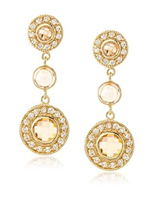 Belargo Round Bezel Drop Earrings
