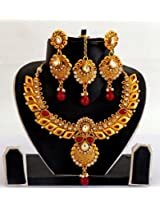Megh Craft Women's Indian Traditional One Gram gold Plated Kundan Jewellery