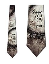 Forsake You Religious Ties Inspirational Mens Necktie