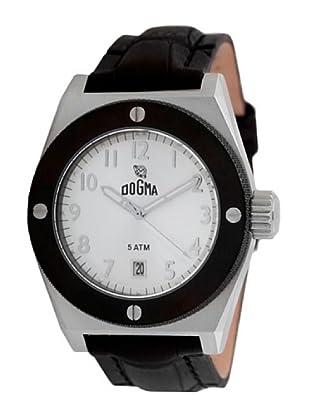 Dogma G7032 - Reloj de Caballero movimiento de quarzo con correa de piel negro