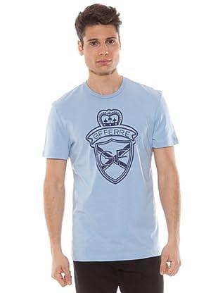 Gianfranco Ferré Camiseta Estampado (Azul Claro)