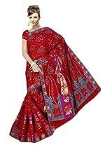 Saree Sansarr Saree (7114_Red)