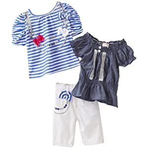 Nannette Baby-Girls Infant Stripe Capri Set