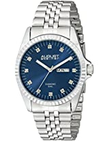 August Steiner Men's AS8169BU Analog Display Japanese Quartz Silver Watch
