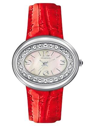 K&BROS 9158-3 / Reloj de Señora  con correa de piel rojo