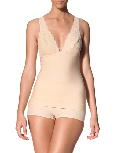 Nearly Nude Women's Cami With Lace (Toasted Almond)