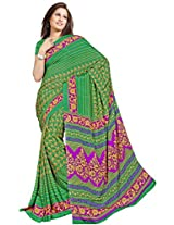 Chinco Saree With Blouse Piece (P1001-A_Green)