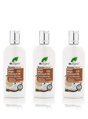 Dr.Organic Set 3 Acondiconador para el Cabello de Coco 265 ml (u)