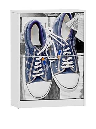 Easy Home Zapatero Elin L2 Blanco/Azul
