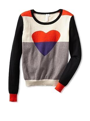 Shae Women's Colorblock Heart Sweater (Shale/Multi)