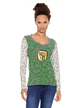 Desigual Camiseta Punta Cana (Verde Aventura)