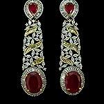 Gold Base Metal American Diamond Fashion Dangle & Drop Earring