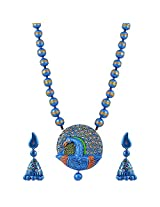 Avarna Terracotta Necklace Set Nsa0013 For Women (Multi-Color )