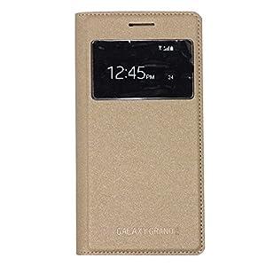 S veiw cover for samsung G7106 golden