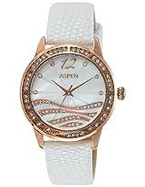 Aspen Analog White Dial Women's Watch - AP1811