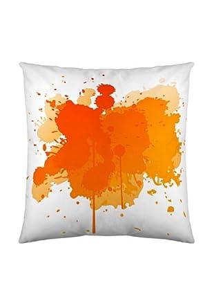 Naturals Funda Cojín Splash (Blanco / Naranja)