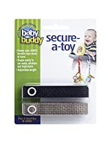 Baby Buddy 2 Count Secure-A-Toy - Black/Tan
