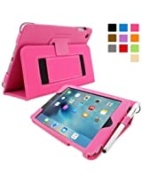 Snugg™ iPad Mini 4 Case - Smart Cover with Flip Stand & Lifetime Guarantee (Hot Pink) for Apple iPad Mini 4 (2015)