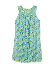 Hype Girls Transparent Dot Dress (Sky)