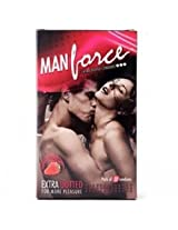 Manforce Strawberry Flavored Condom (Set of 10) - Pack of 2