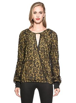 Annarita Camisa Yvette (Negro / Amarillo)