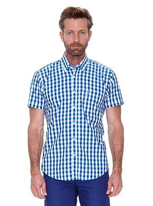 Cortefiel Camisa Vichy Grande (Azul Marino)