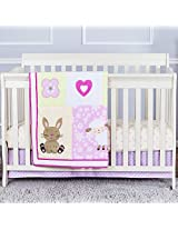 Dream On Me Naptime Friends 3 Piece Reversible Full Size Crib Bedding Set