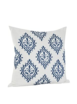 Saro Lifestyle Indigo Embroidered Design Pillow