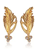 Estelle Gold Plated Dangling Earring With Crystals (493/710)