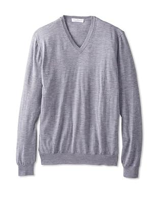 Salvatore Ferragamo Men's V-Neck Sweater (Grey)