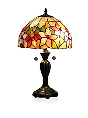 Dale Tiffany Pink Flower Table Lamp