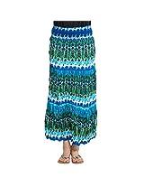 Oxolloxo Multicolour Crinkled Skirt