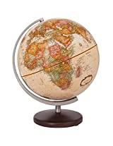 Replogle Globes Desoto Executive Desktop Globe with Antique Oceans and Wood Base, 12