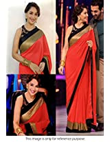 Madhuri Jhalak Liril Bollywood Replica Saree Red