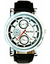 MATRIX Chronograph Look Analog Silver Dial Men's Watch-WCH-MN-CH-SL