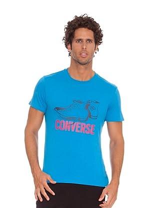 Converse Camiseta T-Balto (Azul / Rosa)