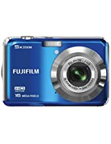 Fujifilm FinePix AX550 16MP Point-and-Shoot Digital Camera (Blue) with SD Card, Carry Case, Battery Charger