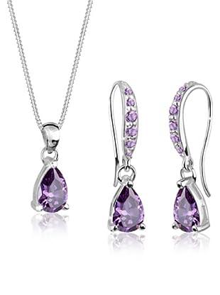 Elli Set bestehend aus Kette und Ohrringen  violett