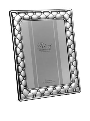 Ricci Sterling Silver Cushion Photo Frame (Silver)