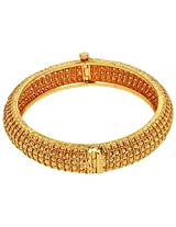 Chandrika Pearls' Gold Plated Round Bangle for Women