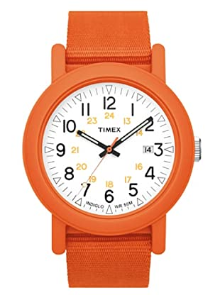 Timex T2N489. Reloj de Señora movimiento de cuarzo con correa téxtil Naranja