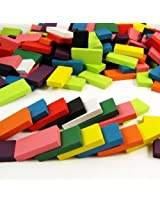 Hercolor 240Pcs Authentic Basswood Standard Wooden Kids Domino Racing Toy Game