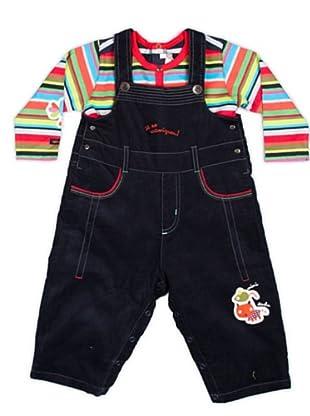 Cattimini Conjunto Peto / Camiseta Rayas (Multicolor)