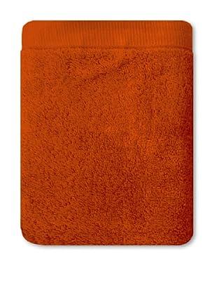 Manterol Set Toallas + Alfombra Baño Rizo Algodón (Naranja)