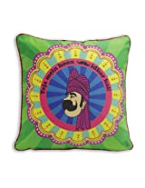 """The Bombay Store Polycot Cushion Cover - Teja Mein Hoon L 16"""" H 16"""""""