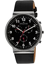 Skagen Ancher Chronograph Black Dial Men's Watch - SKW6100I