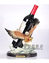 Splendid Eagle Sculpture Wine Bottle Bracket Resin Decor Barware Craft Accessories Embellishment for Red and Grape Wine Display